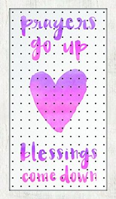 New View Prayers Go Up Blessings Come Down Peg Board 24x1...