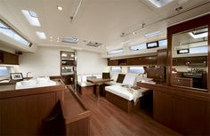 This unique photo is undeniably an impressive design construct. Sailboat Interior, Yacht Interior, Used Boat For Sale, Boats For Sale, Used Sailboats, Luxury Jets, Floating Lights, Below Deck, Modern