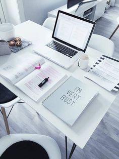 escritorios blancos