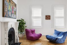 Timber Shutter in Phoenixwood – Silk White, Blade. Pelmets, Custom Windows, House Extensions, Roman Blinds, Roller Blinds, Beautiful Space, Shutters, Bean Bag Chair, Room Kitchen