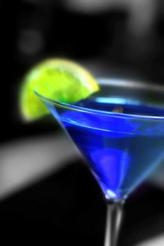 Seahawks colored drink! -Electric blue martini