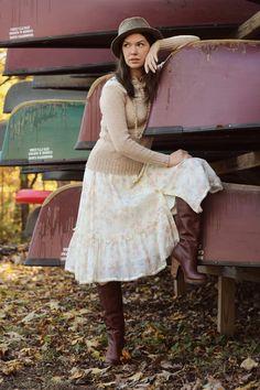 Gunne Sax blouse and skirt set 70s Prairie new by CedarBelle