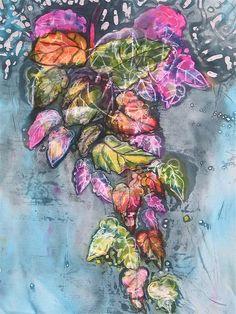 This is a beautiful resist piece: Year 12 wax resist by Art Department Ashford School Fine Art Textiles, Textile Art, High School Art Projects, Glue Art, Batik Art, Organic Art, A Level Art, Encaustic Art, Arts Ed