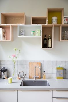 Muuto — Mini stacked as kitchen shelves. #muuto #muutodesign #newnordic