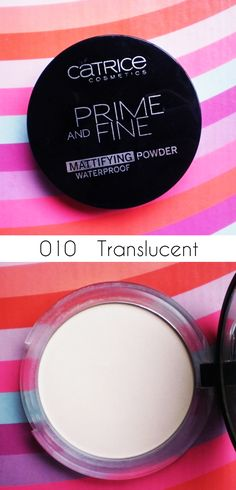 Mary Bloomy: Catrice Prime and Fine Mattifying Powder Waterproof - Review