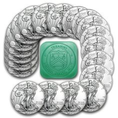 2017 1 oz Silver American Eagle Coins BU Tube, Roll of 20 Brilliant Uncirculated #Doesnotapply