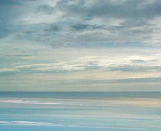 Beach art, ocean beach blue sea painting, tropical caribbean coastal seascape print,  by Francine Bradette-FREE S