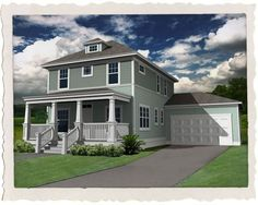Garage attached to house plans