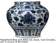 Blue and White Jar-Yuan Dynasty