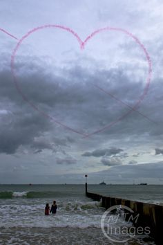 Red Arrows Heart at Bournemouth Air Show