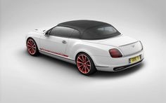 White Bentley rear angle