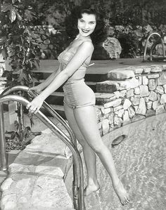 Debra Paget - we saw her in Palace of Fear at the Silver Scream Spookshow.  It was Lovecraft, done in the style of Poe, by Castle, with Vincent Price.  Nick LOVED IT.