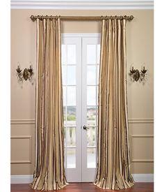 Buy Toscano Silk Taffeta Stripe Curtains and Drapes