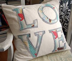 words on pillows for basement: PLAY FUN, etc.  Need to find bird material!
