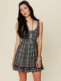 Free People Women's Contemporary New Romantics Weather Vane Ikat Dress #VonMaur