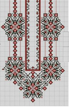 Beading _ Pattern - Motif / Earrings / Band ___ Square Sttich or Bead Loomwork ___ Cross Stitch Borders, Cross Stitch Flowers, Cross Stitch Charts, Cross Stitch Designs, Cross Stitching, Cross Stitch Patterns, Folk Embroidery, Embroidery Patterns Free, Ribbon Embroidery