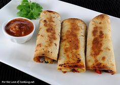baked chicken and sharp cheddar taquitos (these are amazing & gluten free w/rice tortillas!)