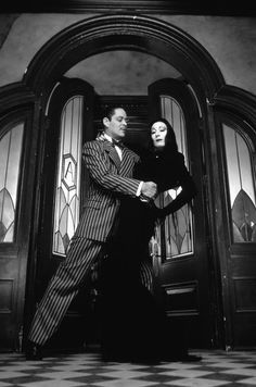 """The Addam's Family. Gomez and Morticia. """"I would die for her. I would kill for her. Either way, what bliss."""""""