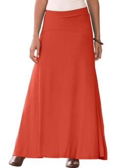 Jessica London Women`s Plus Size Maxi Skirt In Stretch Jersey $26.09 (49% OFF)