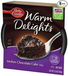 Betty Crocker Warm Delights, Molten Chocolate Cake, 8-pack