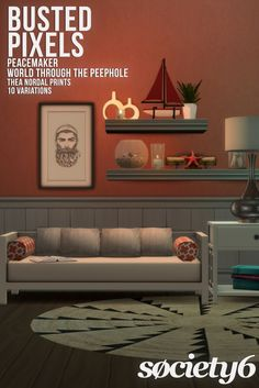 Peacemaker's Thea Nordal Prints Society6 at Busted Pixels via Sims 4 Updates  Check more at http://sims4updates.net/objects/decor/peacemakers-thea-nordal-prints-society6-at-busted-pixels/