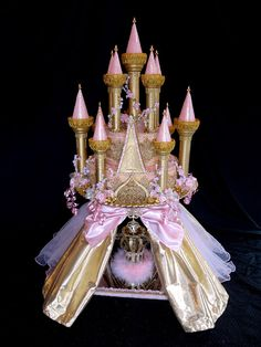 Pink Princess Castle Centerpiece for Special Events  by LaDeeDah2, $375.00