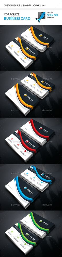 Corporate Business Card Template Vector EPS, AI Illustrator. Download here: https://graphicriver.net/item/corporate-business-card/17533646?ref=ksioks