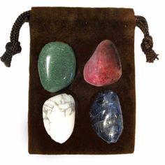 The CALMING Energy Set is a powerful set of four genuine gemstones specially chosen for their individual energies and properties that when used together bring enlightenment, and empowerment to body, m
