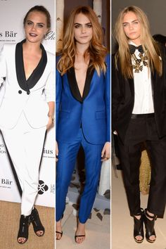 10 fashion icons who have distinct style: Cara Delevingne's signature suit