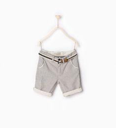 Striped Bermuda shorts with belt-TROUSERS-BOY | 4-14 years-KIDS | ZARA United Kingdom