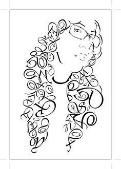 typography design portrait - Google Search