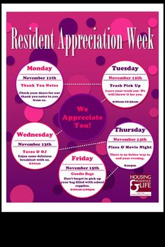 423367caf37d DIY Resident Appreciation Week Flyer. Feel free to like and re-pin to your