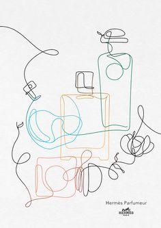Perfume Logo, Hermes Perfume, Minimalist Drawing, Minimalist Art, Creative Advertising, Advertising Design, Line Animation, Minimalism Blog, Minimalist Christmas