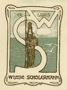 Bookplate by Emil Orlik for Wilhelm Scholermann, 1899