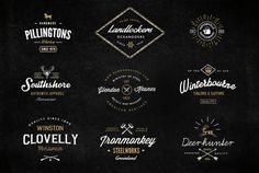 Vintage Logo Template Bundle Vol 2 ~ Objects on Creative Market