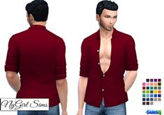NyGirl Sims 4: Movie Hangout Unbuttoned Shirt Edit Base Game No Undershirt