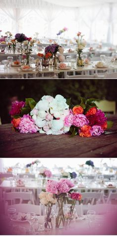 i love how 'thrown together' these tables look!  the perfect set-up!