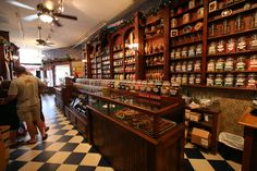 An old-fashioned candy store.