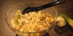Suolapähkinä-juusto pastasalaatti