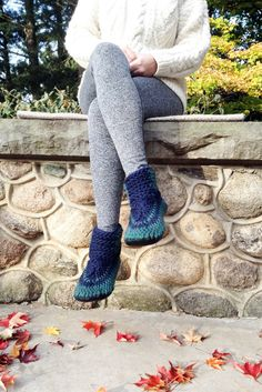 Crochet Slipper Boots, Knitted Slippers with Leather Soles, Wool Mukluks, Knitted Wool Slippers,  Booties Handmade, Crochet Slipper Booties