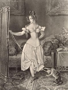 The Stay-lace, engraved by Alfred Leon Lemercier, after Nicholas Eustache Maurin (1799-1850) 1830s