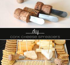 Limefish Studio: DIY Wine Cork & Champagne Cork Cheese Spreaders