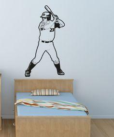 Vinyl Wall Decal Sticker Baseball Player #OS_AA178