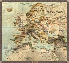 Europe in 1500.
