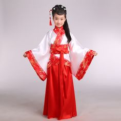 HOT Costumes Women Hanfu Red Dream Flower Fairy Dress Ancient Cosplay Party Tops
