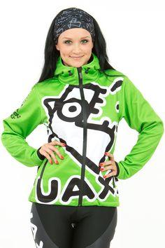 SOFTSHELLOVÁ BUNDA WOMEN Originální dámská softshellová bunda s kapucí a  potiskem UAX! Fish z vodě 518b45427a3