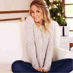 Lauren Conrad in an LC Lauren Conrad Sweater {available at kohl's}