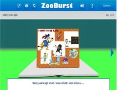 A storybook I created two or three year ago with Zooburst a great tool, easy to use and really intuitive. http://www.zooburst.com/book/zb02_4f3f7cb8c4303