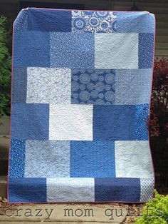 crazy mom quilts: fat quarters as backing= love