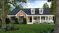 Home Plan HOMEPW06758 - 1965 Square Foot, 3 Bedroom 2 Bathroom Country Home with 0 Garage Bays   Homeplans.com